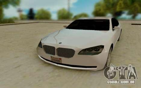 BMW 7 Series 750Li xDrive para GTA San Andreas vista traseira