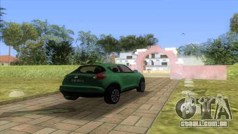 Nissan Juke para GTA Vice City vista traseira