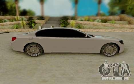 BMW 7 Series 750Li xDrive para GTA San Andreas esquerda vista