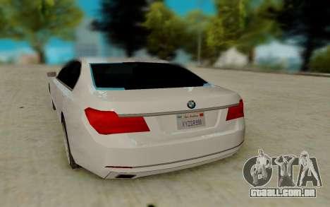 BMW 7 Series 750Li xDrive para GTA San Andreas vista direita