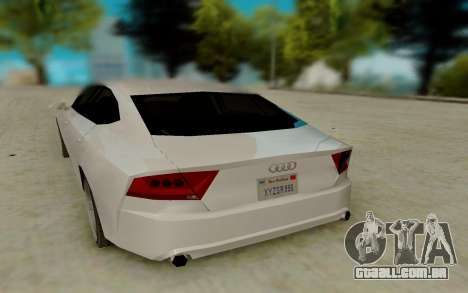 Audi A7 para GTA San Andreas vista direita