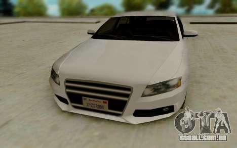 Audi A4 para GTA San Andreas vista traseira