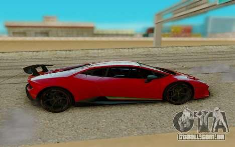 Lamborghini Huracan para GTA San Andreas esquerda vista