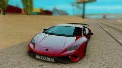 Lamborghini Huracan vermelho para GTA San Andreas