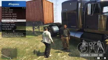 DLC Weapons Dealer 1.0 para GTA 5