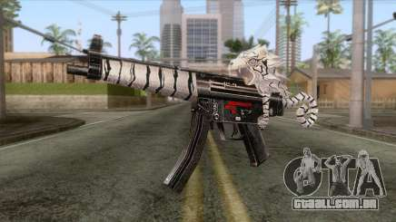 MP5 Tiger Skin para GTA San Andreas