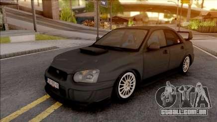 Subaru Impreza WRX STi de prata para GTA San Andreas