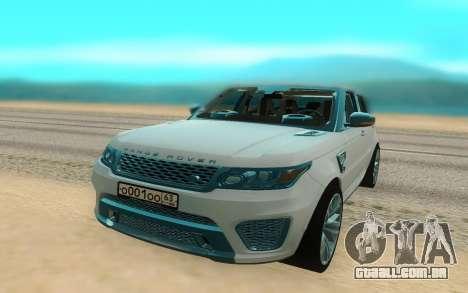 Land Rover Range Rover Sport para GTA San Andreas vista direita