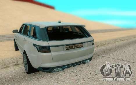 Land Rover Range Rover Sport para GTA San Andreas vista traseira