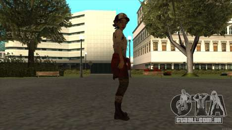 Clementine from The Walking Dead - season 3 para GTA San Andreas