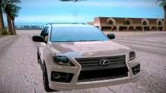 Lexus LX570 prata para GTA San Andreas