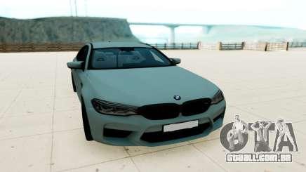 BMW M5 F90 prata para GTA San Andreas