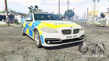 BMW 525d Touring Metropolitan Police [replace] para GTA 5