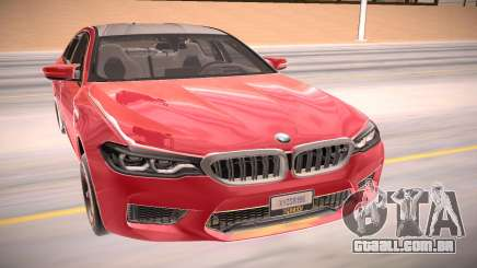 BMW M5 F90 vermelho para GTA San Andreas