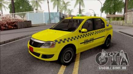 Renault Logan Taxi para GTA San Andreas
