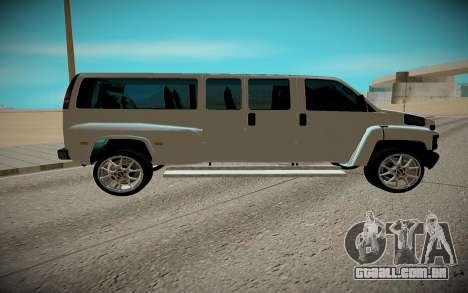 GMC Savana C5500 para GTA San Andreas traseira esquerda vista