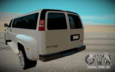 GMC Savana C5500 para GTA San Andreas vista traseira