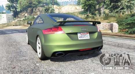 GTA 5 Audi TT RS (8J) 2013 v1.1 [replace] traseira vista lateral esquerda