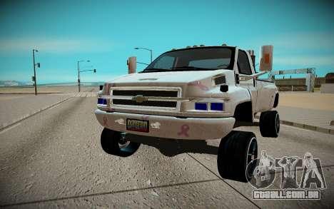 Chevrolet Kodiak C4500 para GTA San Andreas vista traseira
