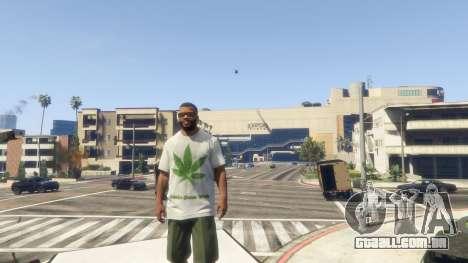 T-Shirt Verde Folha para GTA 5