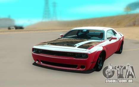 2018 Dodge Challenger Demon SRT para GTA San Andreas vista direita