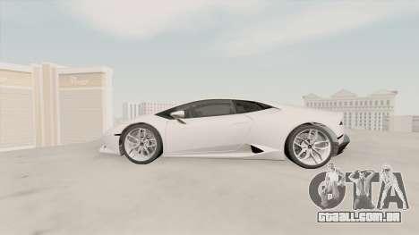 Lamborghini Huracan SA Plate para GTA San Andreas