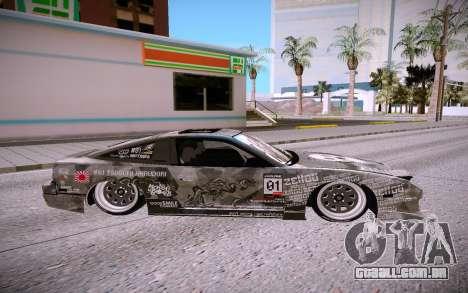 Nissan 240SX para GTA San Andreas esquerda vista