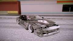 Nissan 240SX prata para GTA San Andreas