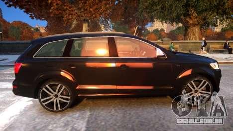 Audi Q7 V12 TDI 2009 Baku Style (fix parameters) para GTA 4 vista de volta