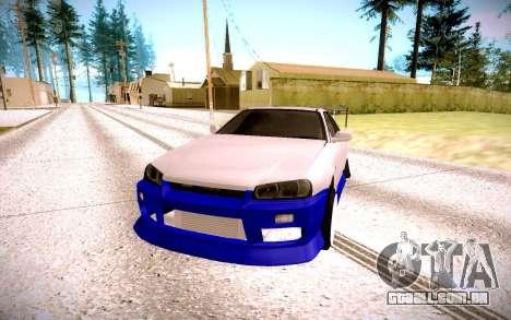 Nissan Skyline para GTA San Andreas vista traseira