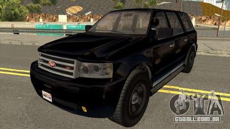 GTA V Vapid FBI Rancher para GTA San Andreas