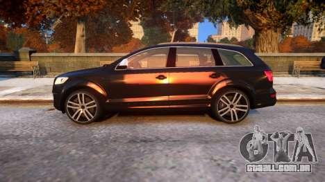 Audi Q7 V12 TDI 2009 Baku Style (fix parameters) para GTA 4 esquerda vista
