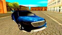 A Mercedes-Benz W222 preto para GTA San Andreas