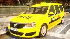 Dacia Logan MCV Taxi para GTA 4