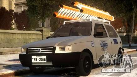 Fiat Uno com Escada para GTA 4