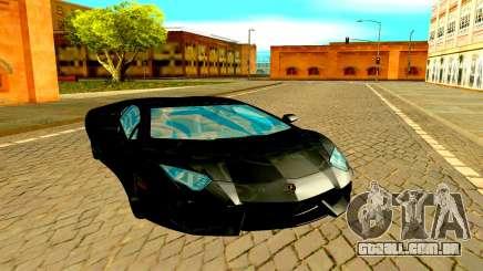 Lamborghini Aventador чёрный para GTA San Andreas