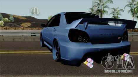 Subaru Impeza WRX STI para GTA San Andreas traseira esquerda vista
