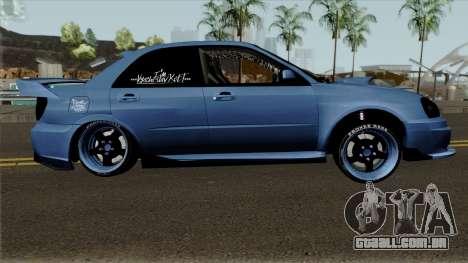 Subaru Impeza WRX STI para GTA San Andreas vista traseira