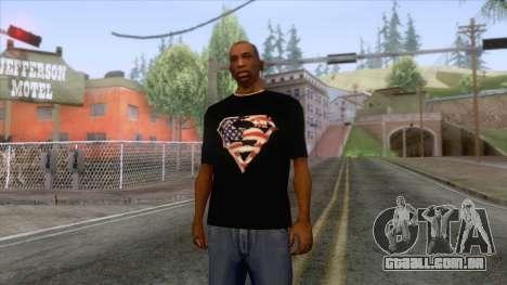 Black Superman USA T-Shirt para GTA San Andreas