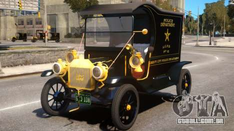 Ford T 12 Police Wagon para GTA 4