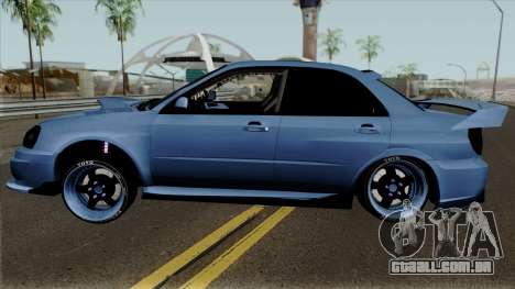 Subaru Impeza WRX STI para GTA San Andreas esquerda vista