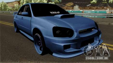 Subaru Impeza WRX STI para GTA San Andreas vista interior