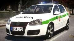 Volkswagen Golf 5 GTI Lithuanian Police