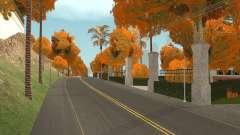 Folhas de outono nas Árvores v1.0 para GTA San Andreas