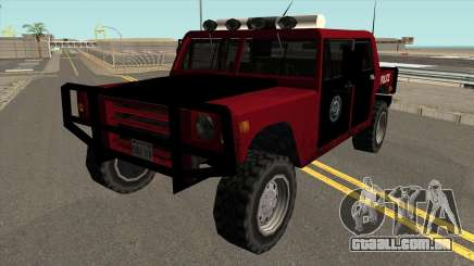 Patriota Polícia no estilo de SA para GTA San Andreas