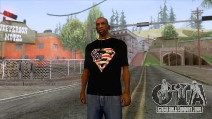 Black Superman USA T-Shirt para GTA San Andreas