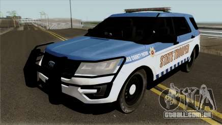 Ford Explorer 2012 Red County Police para GTA San Andreas