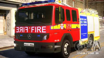 London Fire Brigade Atego Fire Appliance para GTA 4