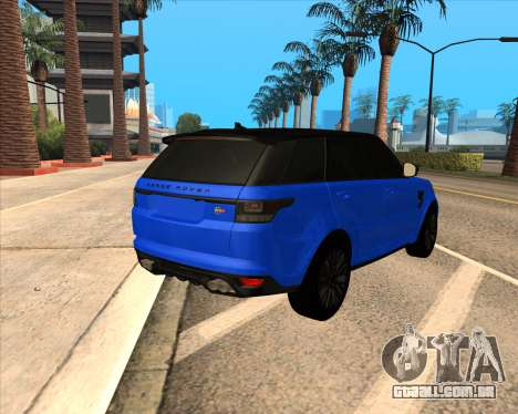 Range Rover SVR para GTA San Andreas