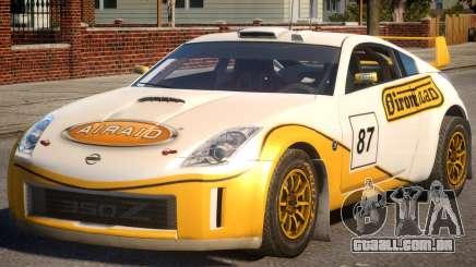 Nissan 350Z Rally Car DiRT2 P3 para GTA 4